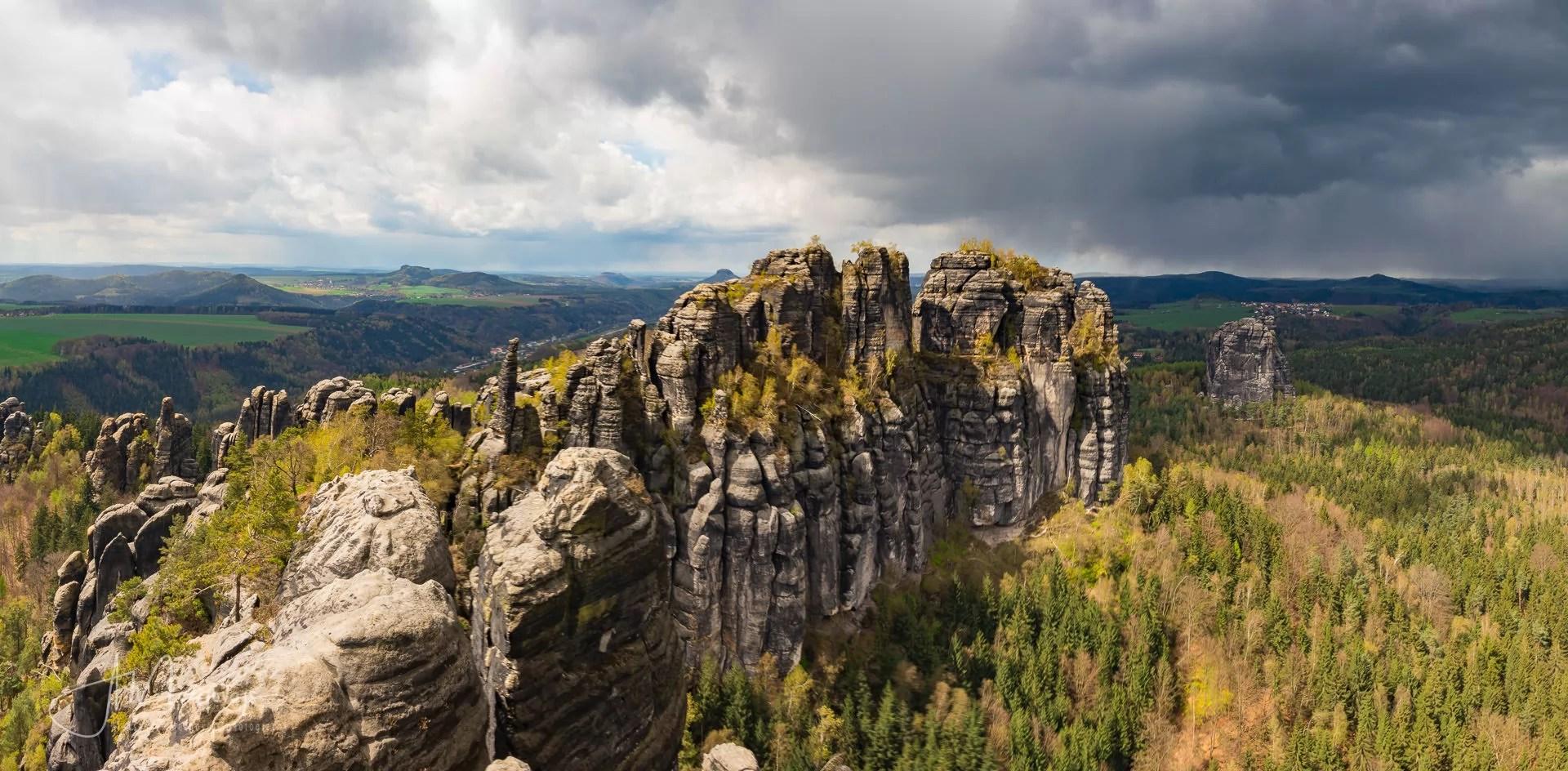 Schrammsteine ridge, Saxon Switzerland