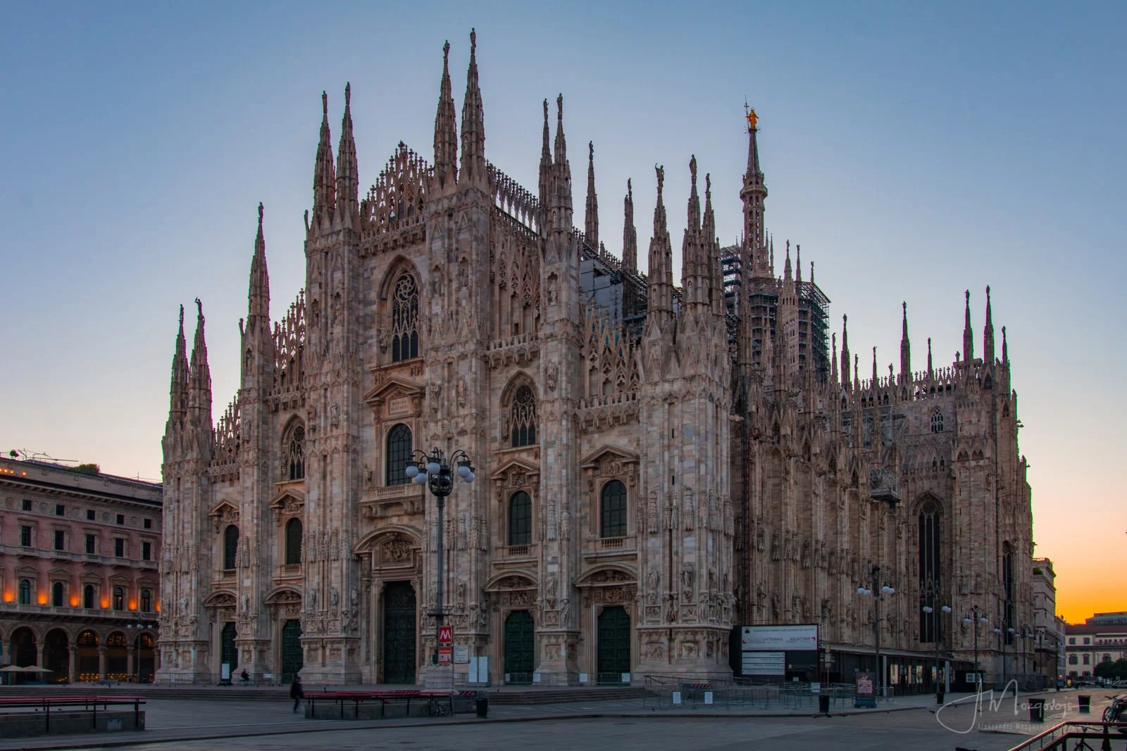 Duomo at sunrise is a much more relaxed and laid-back place