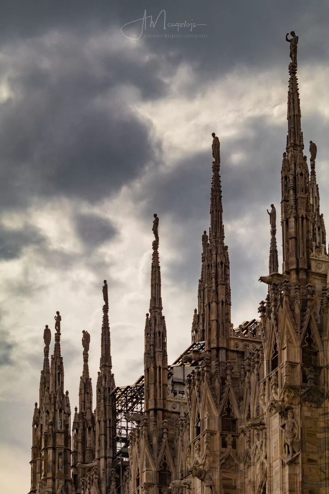 Silent Watchers at the top of Milan Cathedral, Italy