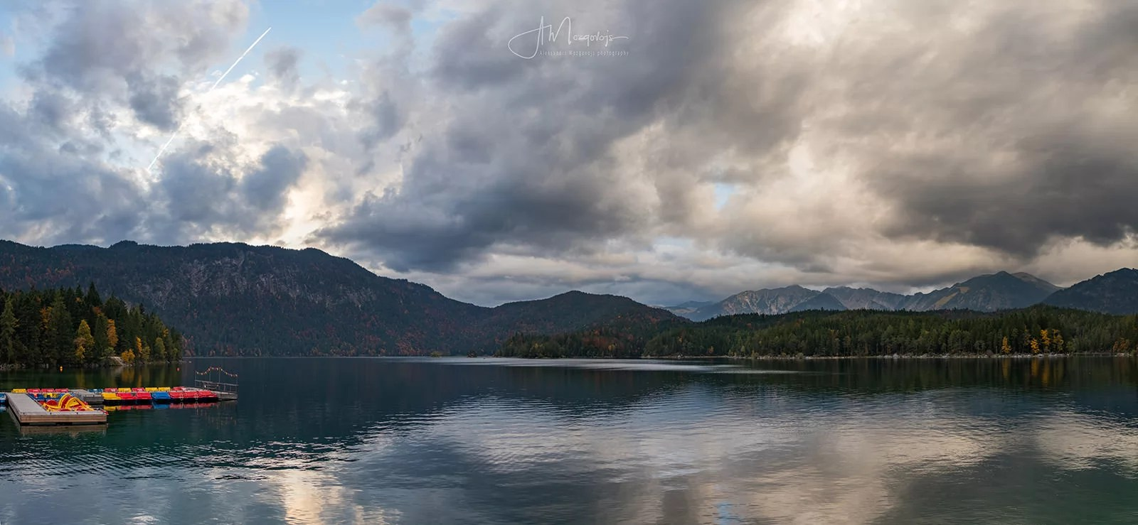 Lake Eibsee in late afternoon