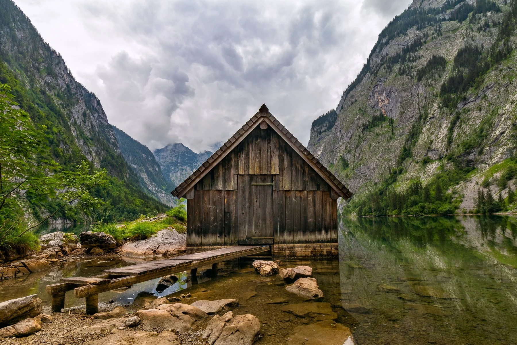 Boathouses of Lake Obersee