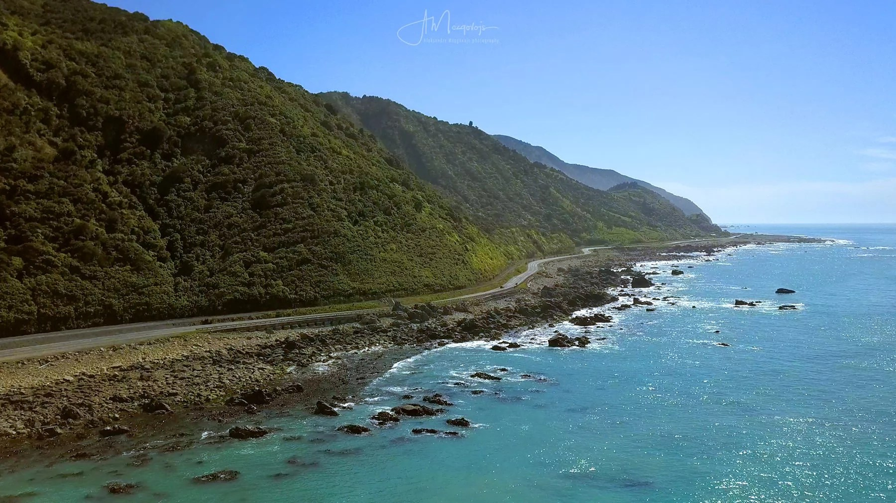 Road north of Kaikoura