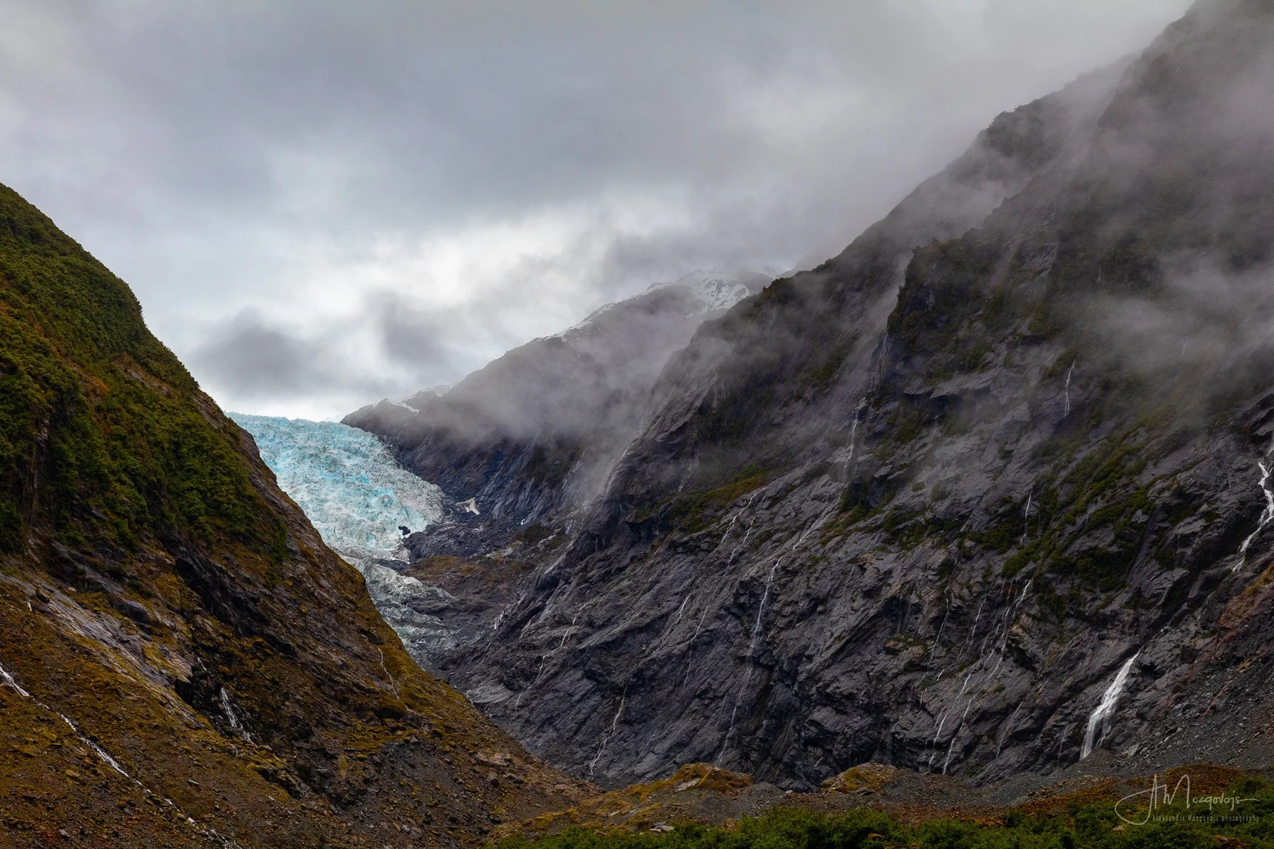 Franz Josef Glacier on a rainy day