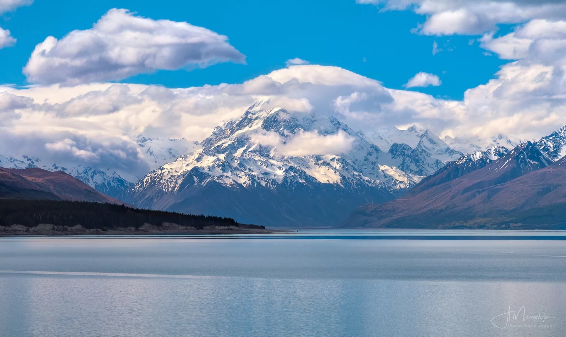 Mount Cook covered in clouds, New Zealand