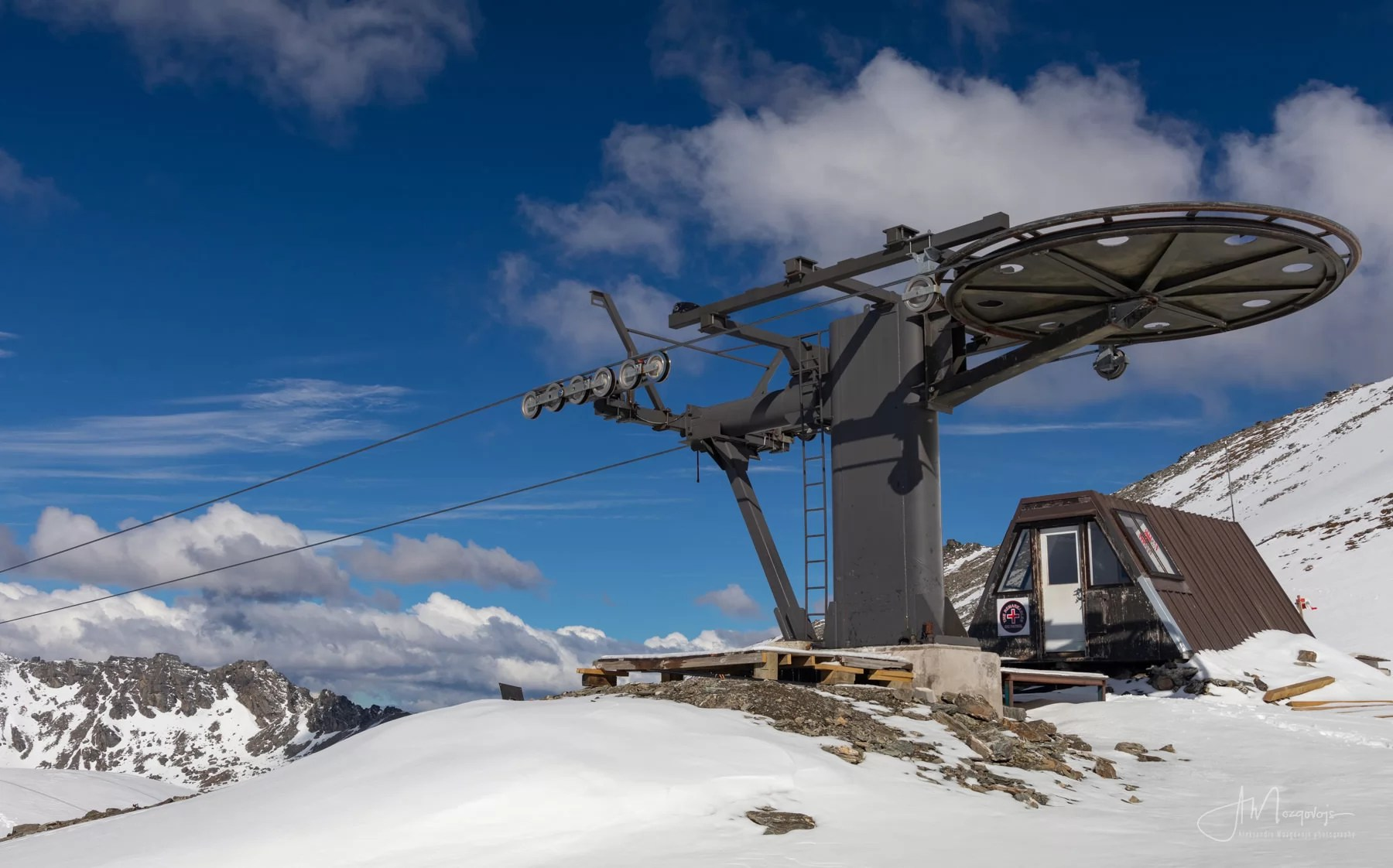 Upper ski lift, Remarkables Range, New Zealand
