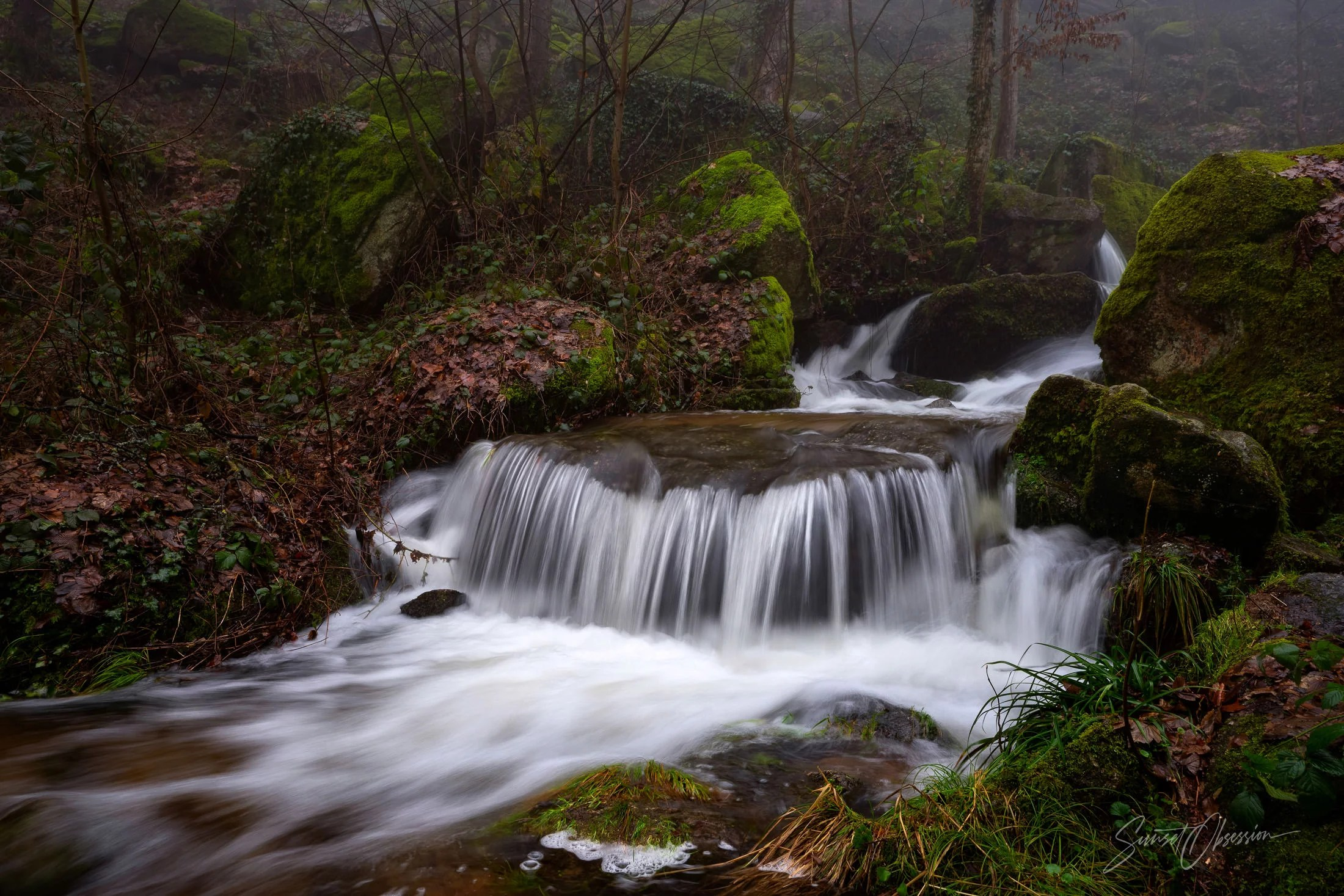 Beautiful waterfalls in the Black Forest, Germany