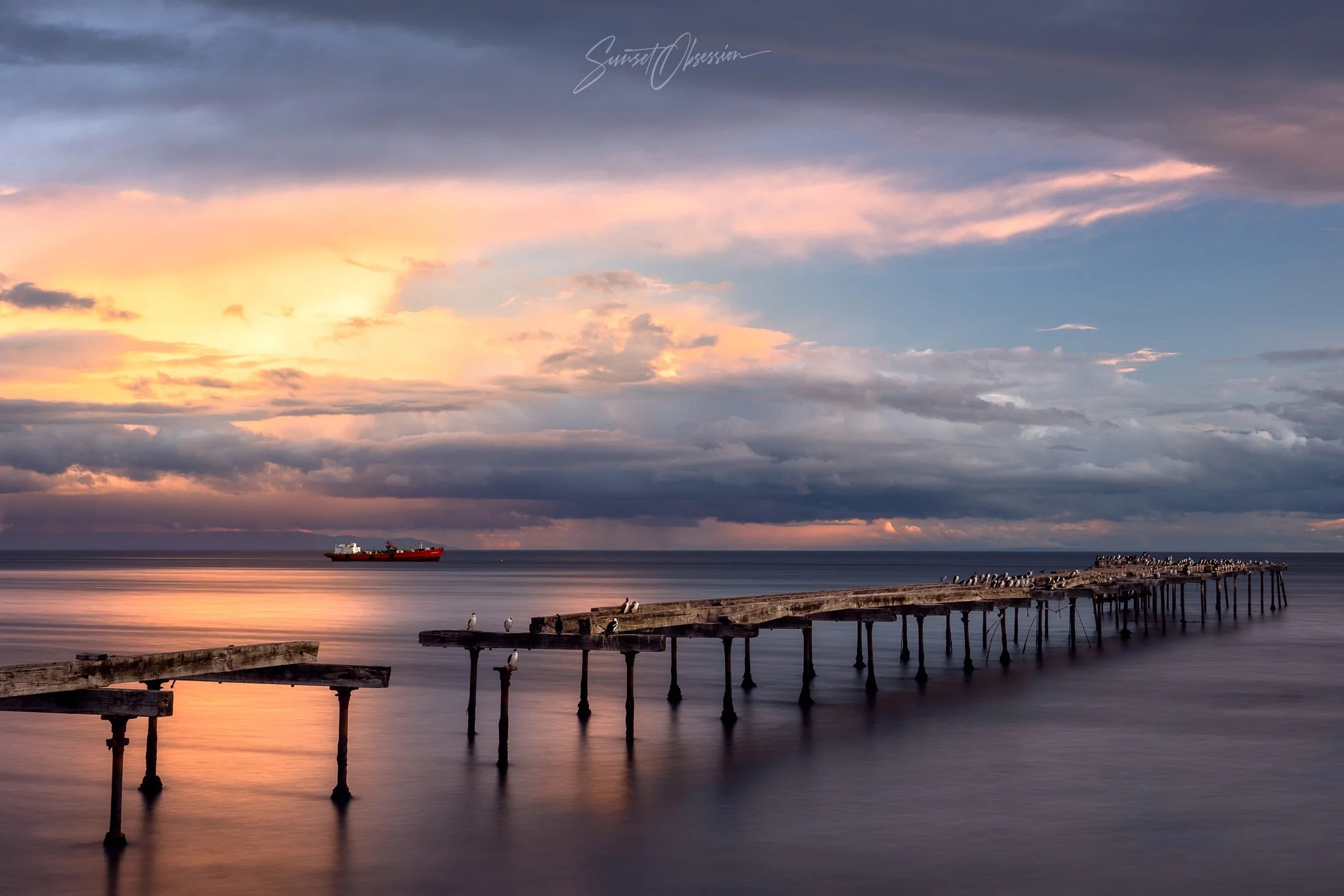 The old piers in Punta Arenas are a great photo location