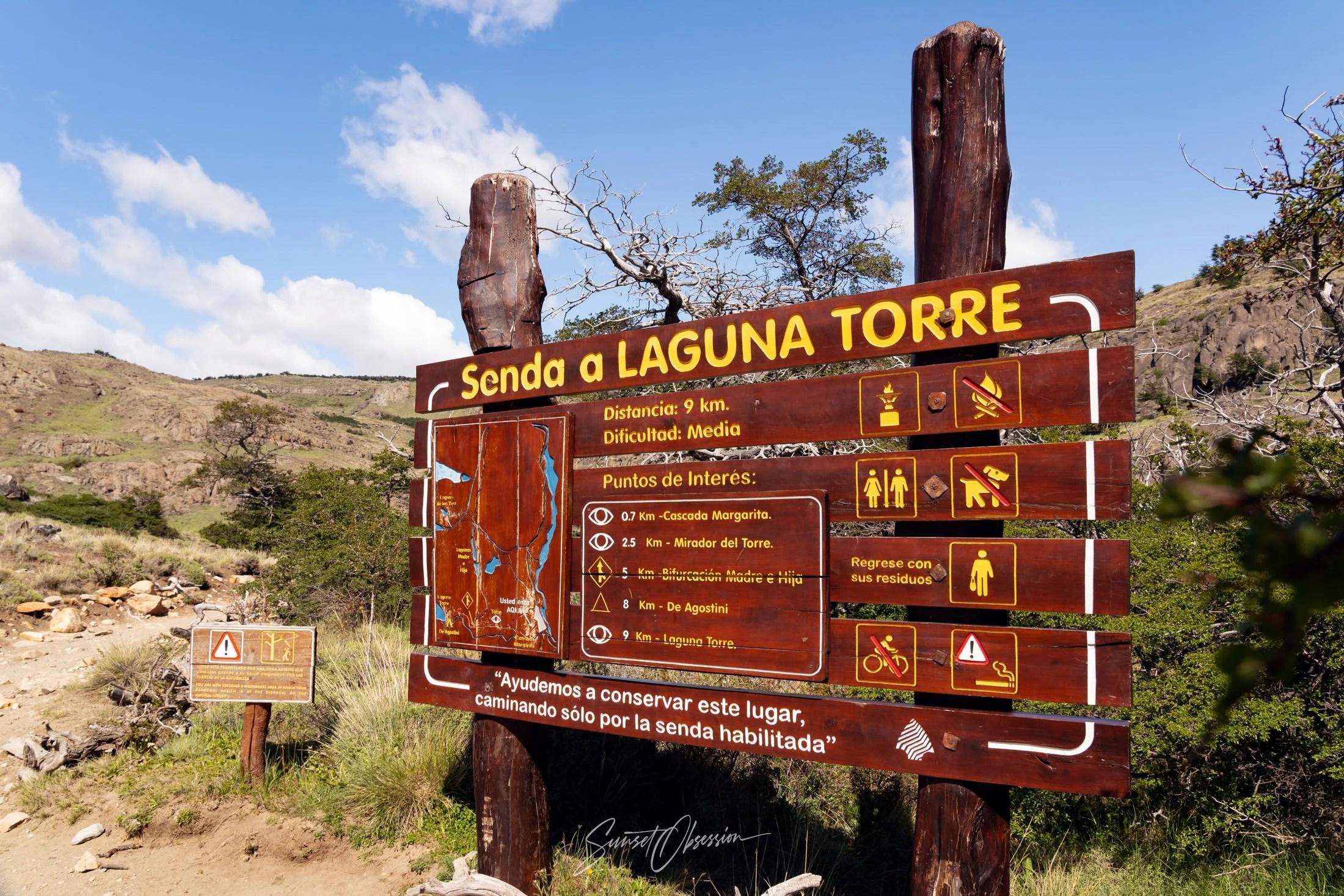 Start of the hike to Laguna Torre