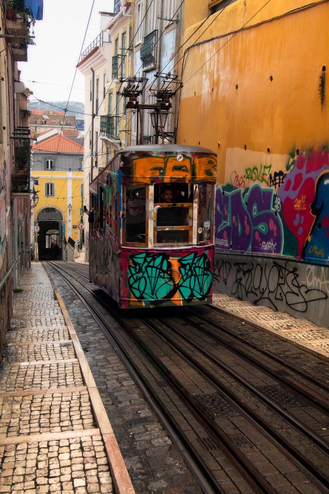 Bica Funicular belongs to any Lisbon photography guide