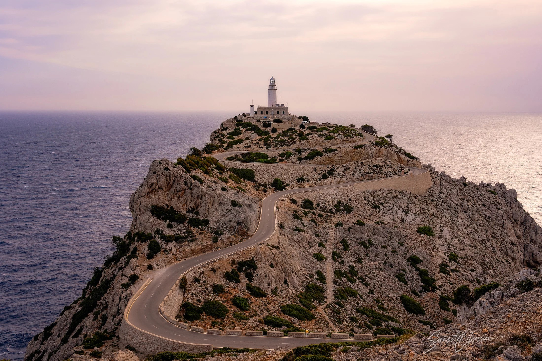 The lighthouse of Cap de Formentor in the early morning light