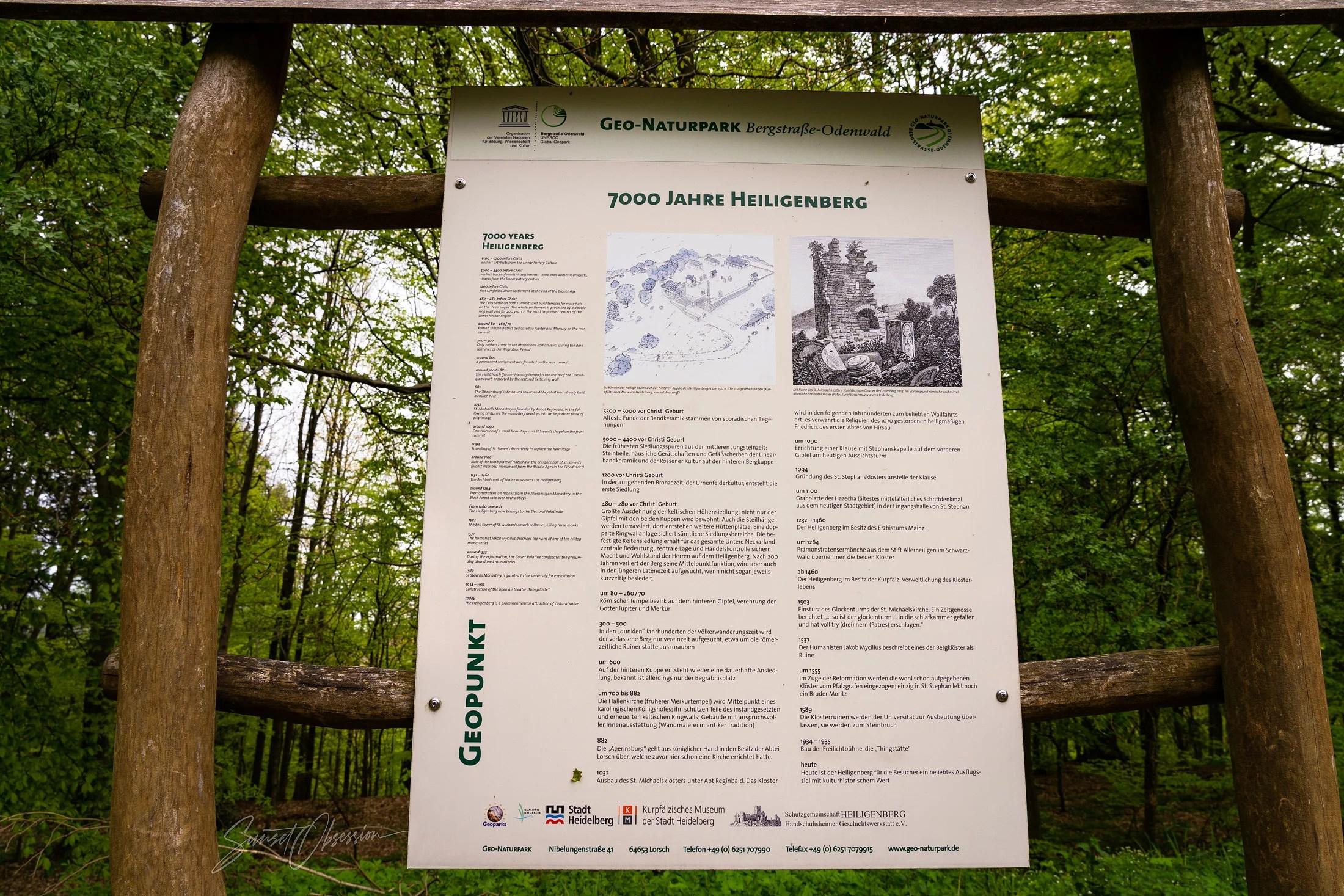 Вся 7000-летняя история Хайлигенберга в одном плакате