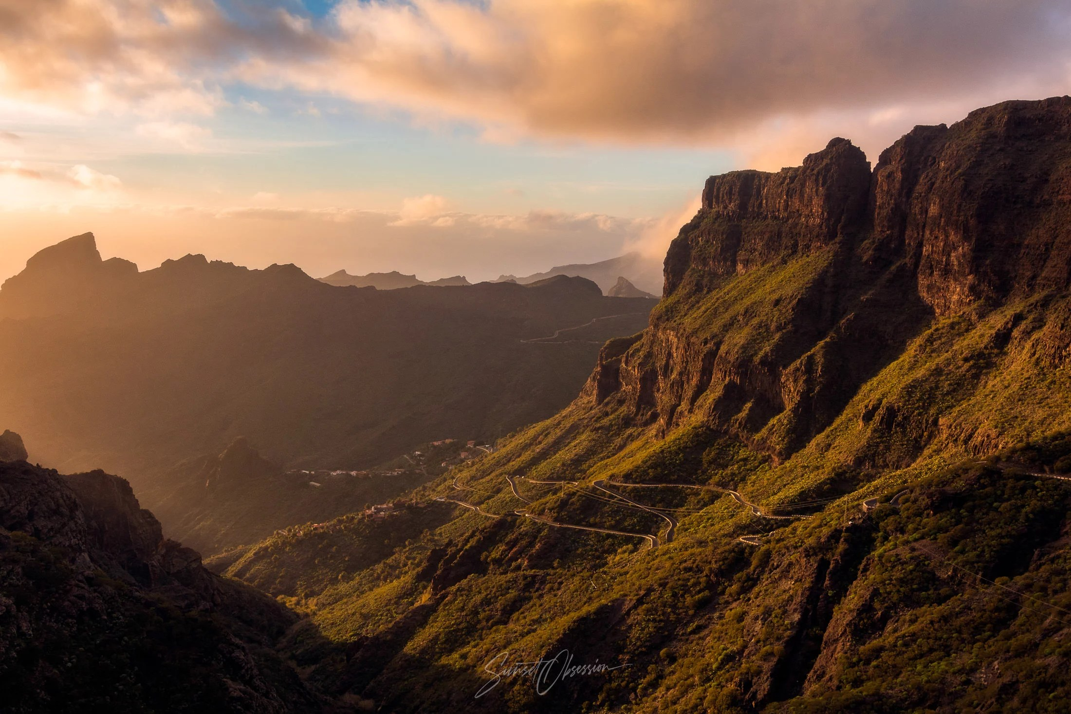 Soft afternoon light in the Masca Gorge, Tenerife, Canary Islands