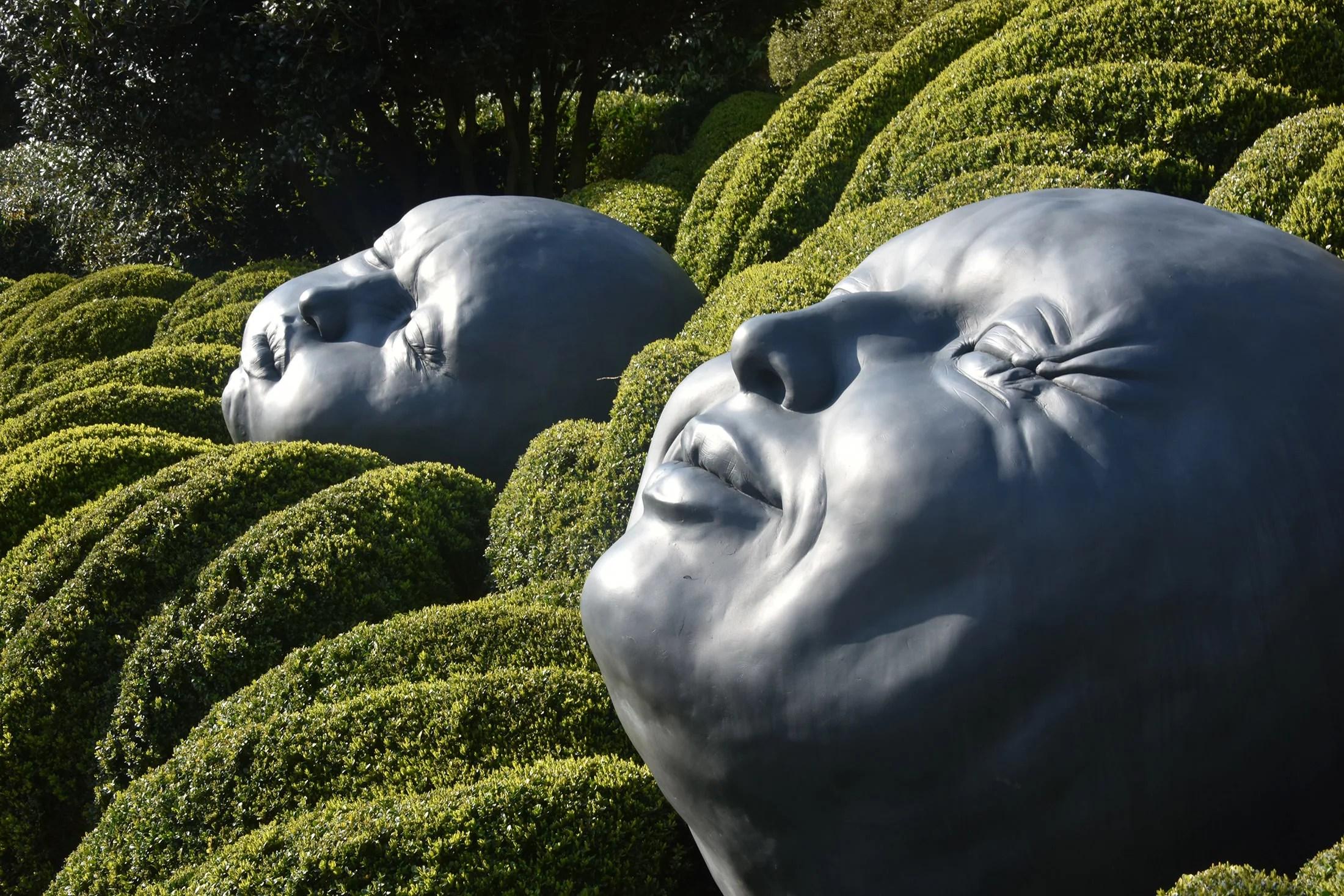 Moods of the ocean installation in the Gardens of Etretat