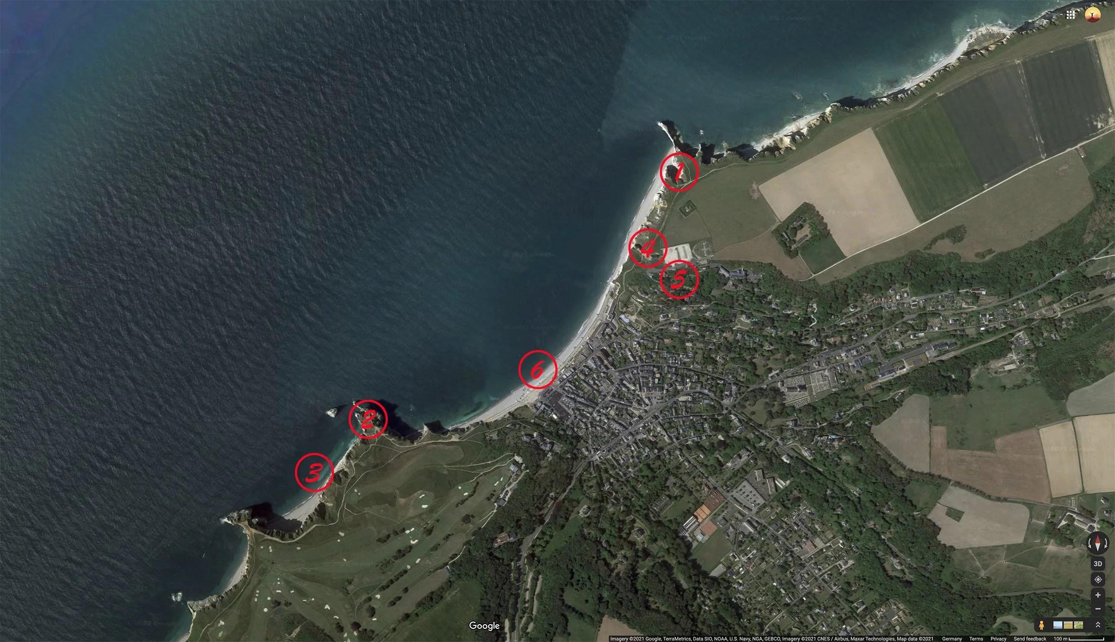 Карта мест для фотографии в Этрета