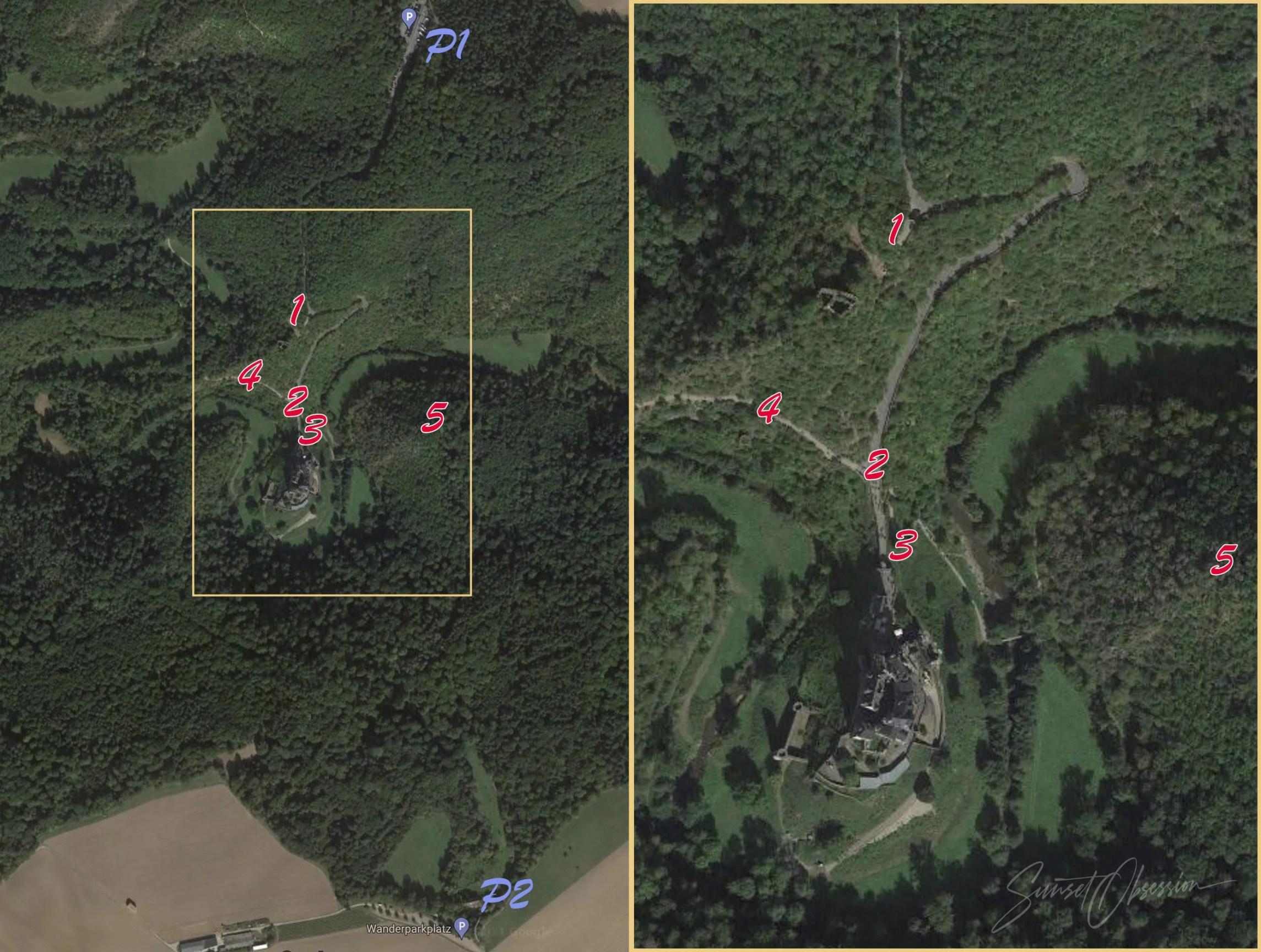 Burg Eltz photography location map