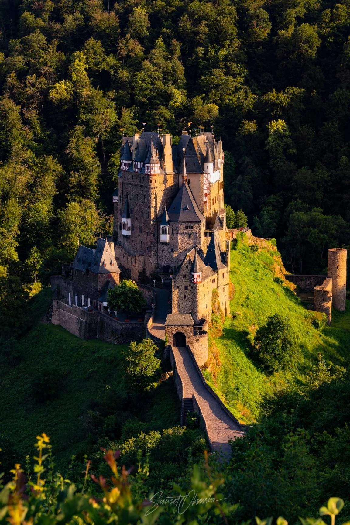 Majestic Burg Eltz in the summer afternoon, Germany