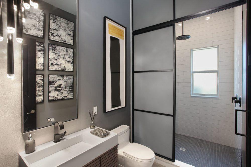 Davis Islands South Tampa Waterfront Powder Room Shower