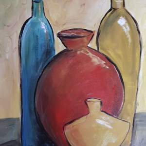 2017 Paint & Party - Four Vases