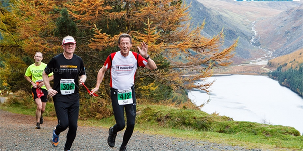 Rick running with his buddy Ceel on the Glendalough trail