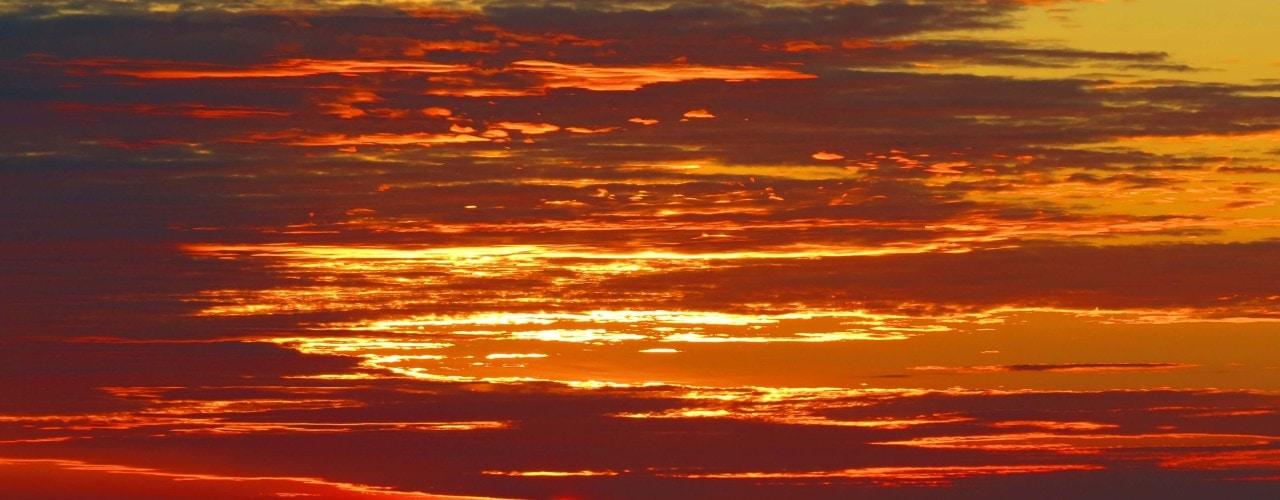 Sunset over uluwatu