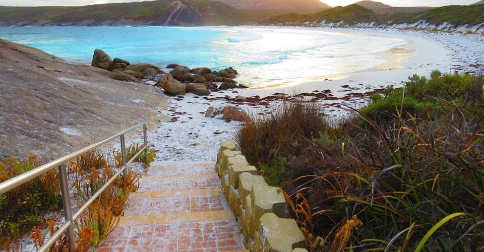 Beach next to lucky bay