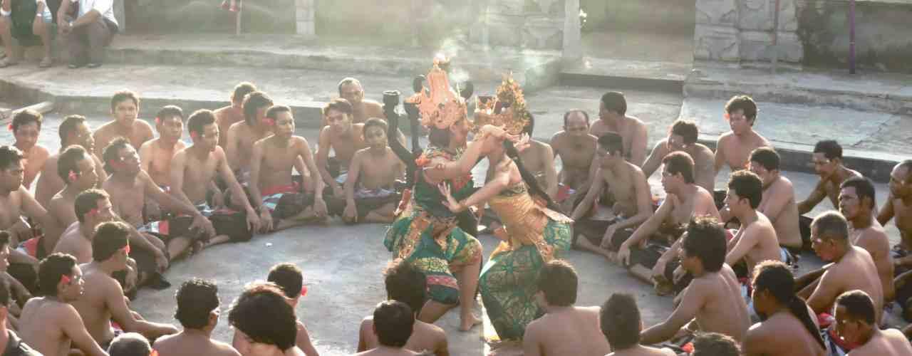 Kecak dance performance in Uluwatu before sunset