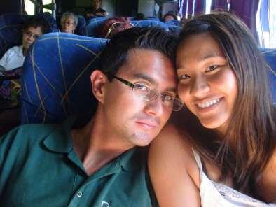 couple travel bloggers - my tan feet