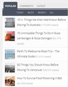 popular posts plugin on wordpress start a travel blog (1)