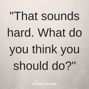 What do you think you should do?