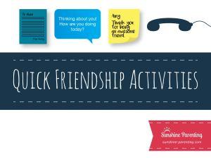 Quick Friendship Activities