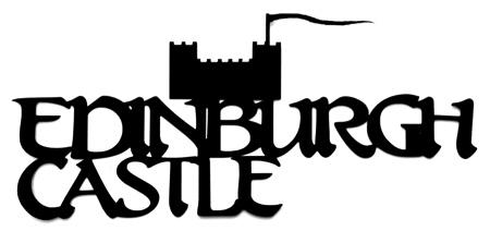 Edinburgh Castle Scrapbooking Laser Cut Title With Castle
