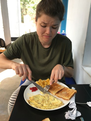 Trying omelette for the first time!