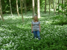 Wild Garlic in May. Bolton Abbey.