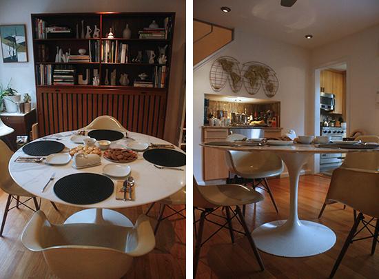 white marble Saarinen table  Sunshine+Design