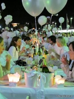 The inaugural Diner en Blanc, Brisbane