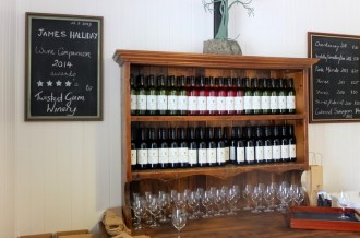 Some of the lovely furniture and even better wines at Twisted Gum.