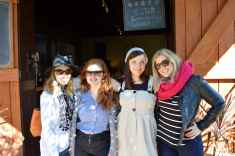 Claire, Katie, Sarah and Kirst at Witches Falls Winery, Tamborine