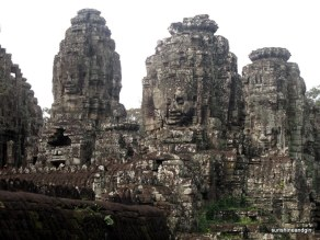 Faces on the Bayon.