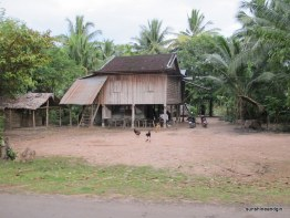 A typical rural Cambodian dwelling.