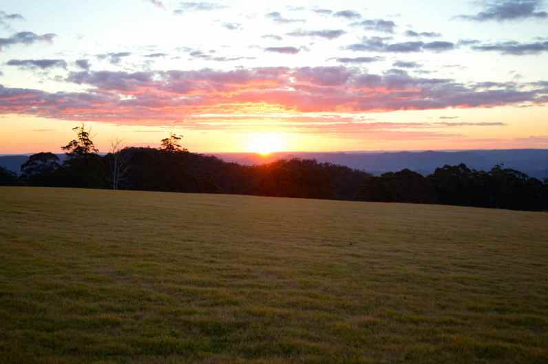 Sunset at Spicers Peak, Maryvale