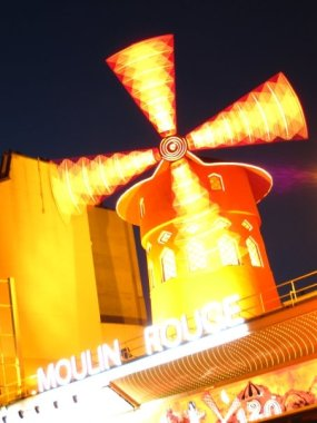 The Moulin Rouge by night
