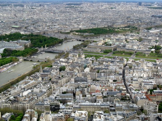 Looking down on the Louvre from the Eiffel Tower Paris
