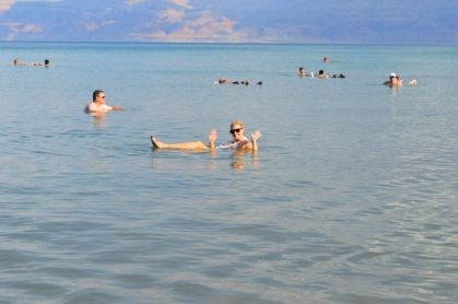 Just floating around in the Dead Sea