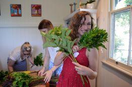 B preparing her foliage