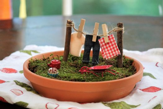 Rustic Fairy Garden Kid's Activity | sunshineandholly.com
