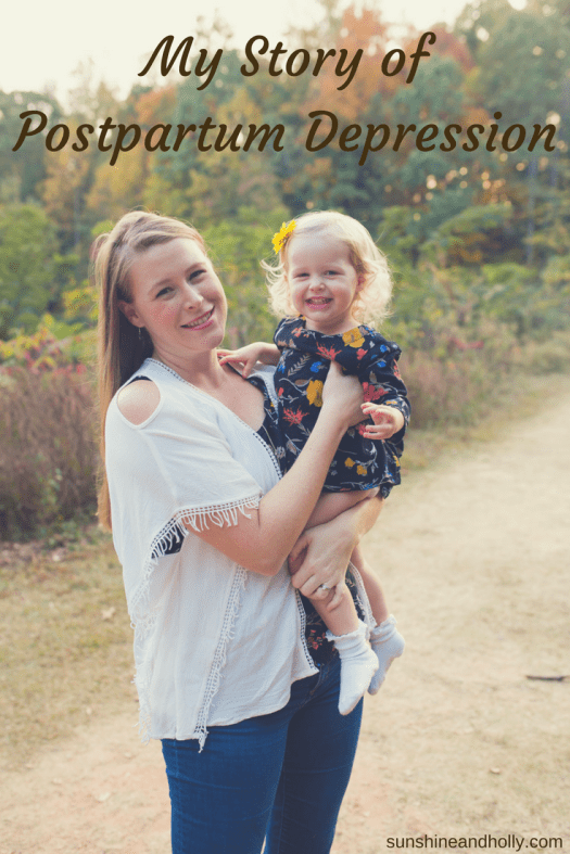 My Story of Postpartum Depression | sunshineandholly.com