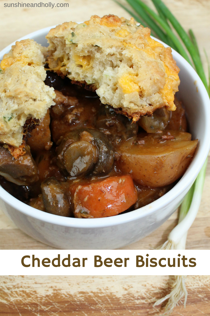 Cheddar Beer Biscuits | sunshineandholly.com | easy homemade biscuits | cheddar biscuits
