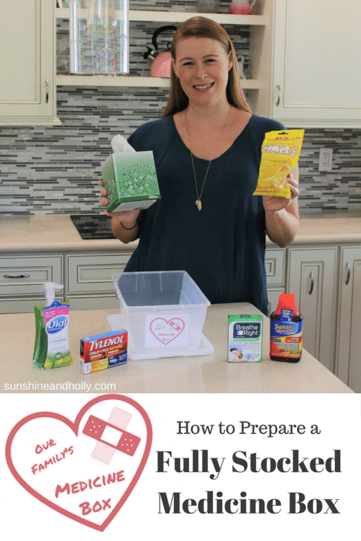 #ad How to Prepare a Fully Stocked Medicine Box #shop #HappilyStocked #CollectiveBias | sunshineandholly.com
