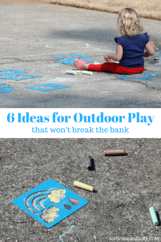 6 Ideas for Outdoor Play that Won't Break the Bank | sunshineandholly.com | #affiliate | outdoor toys games activities