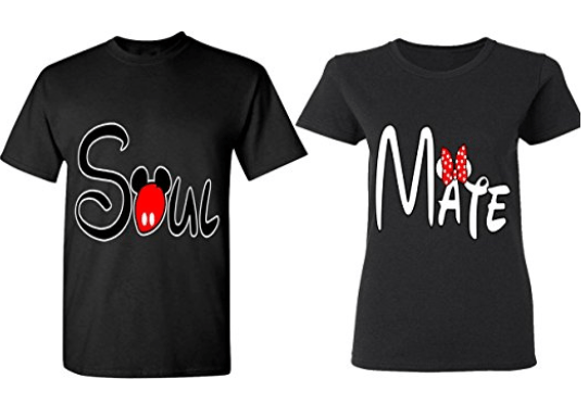 Adorable Matching Disney World T-Shirts for Couples | sunshineandholly.com | anniversary | Disneyland